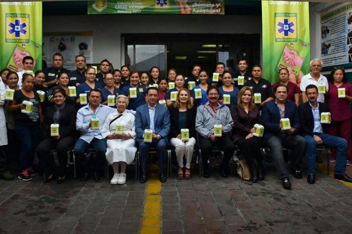 Inician Colecta Anual de Cruz Verde Monterrey