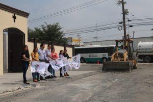 El Gobierno Municipal de Juárez encabezado por el Alcalde Heriberto Treviño Cantú, inició los trabajos para la remodelación del acceso principal del panteón municipal.