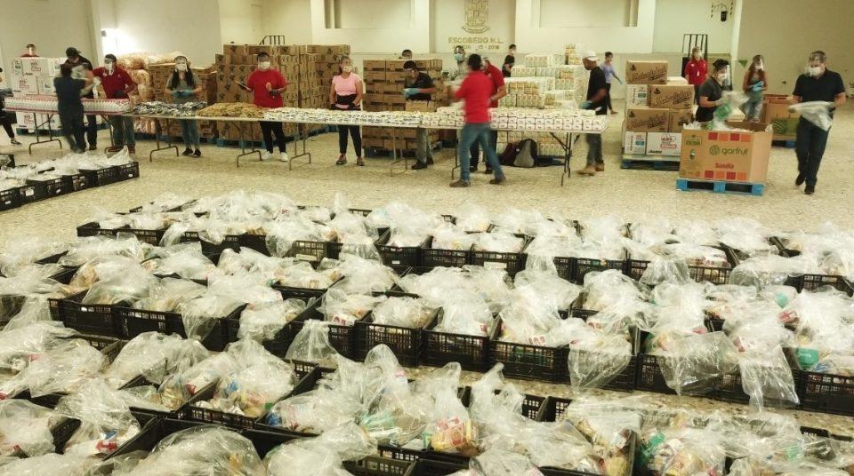 Beneficia Escobedo a 18 mil familias con Programa Alimenticio AyudDAR; suman más empresas a red de apoyo
