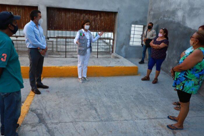 Rehabilita Cristina Díaz obra pluvial en Colonia Croc