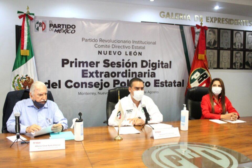 Aprueba Consejo Político de Nuevo León reformas a los estatutos del PRI