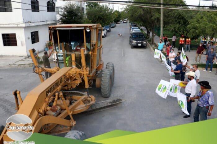 Inicia reconstrucción de calle Sabino y calle  Roble en la Colonia Sabinitos