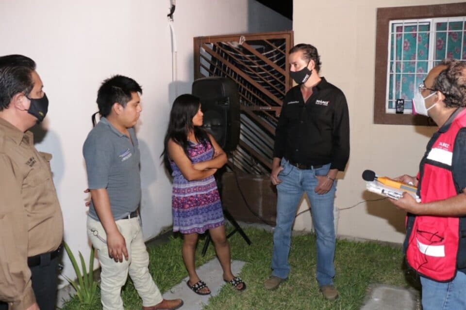 Supervisa Alcalde Everardo Benavides Villarreal operativo contra vecinos ruidosos