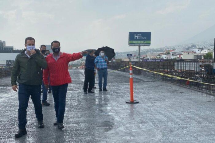 Supervisan obra en Paseo de los Leones y Cumbres Elite en Monterrey
