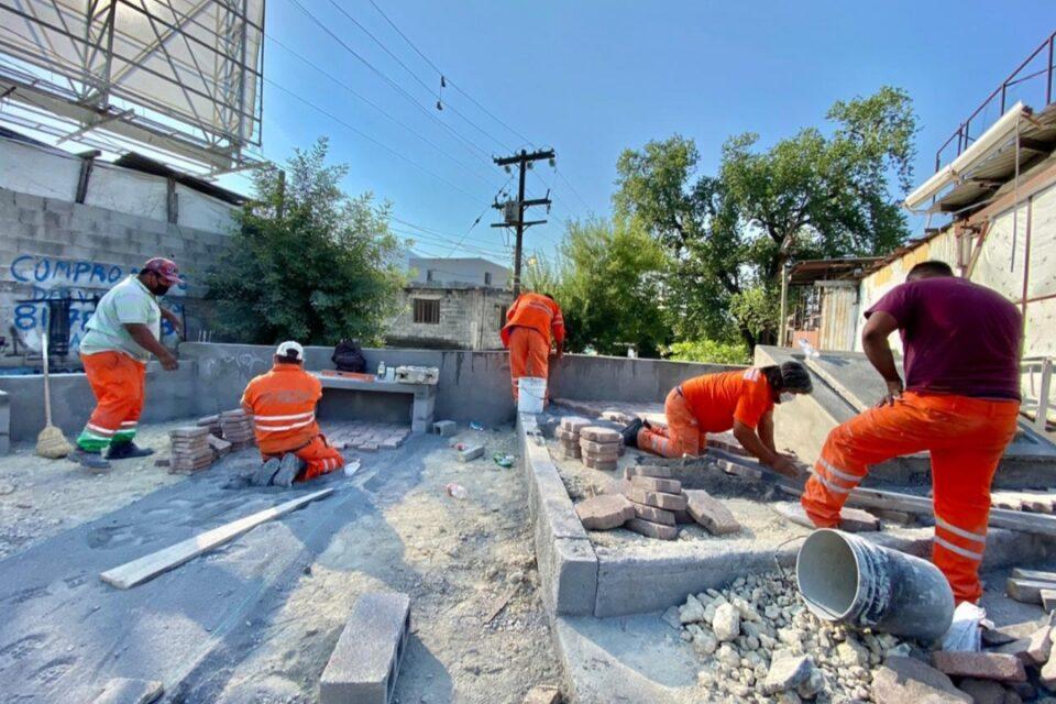 Rehabilita Monterrey espacio público utilizado como tiradero clandestino