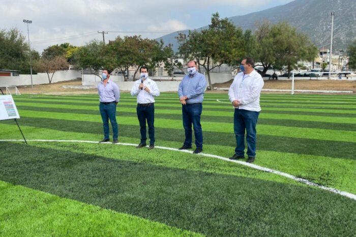 Entrega Monterrey Canchas Deportivas en la Colonia San Martín