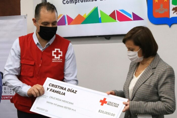 Realiza Gobierno de Guadalupe donativo a la Cruz Roja