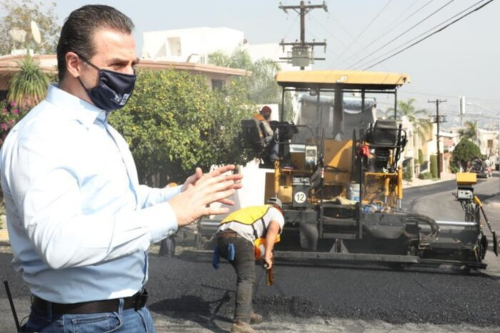 Rehabilitará Monterrey más calles en la Colonia Cumbres