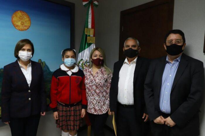 Reconocen a representantes de Guadalupe en el Parlamento Infantil