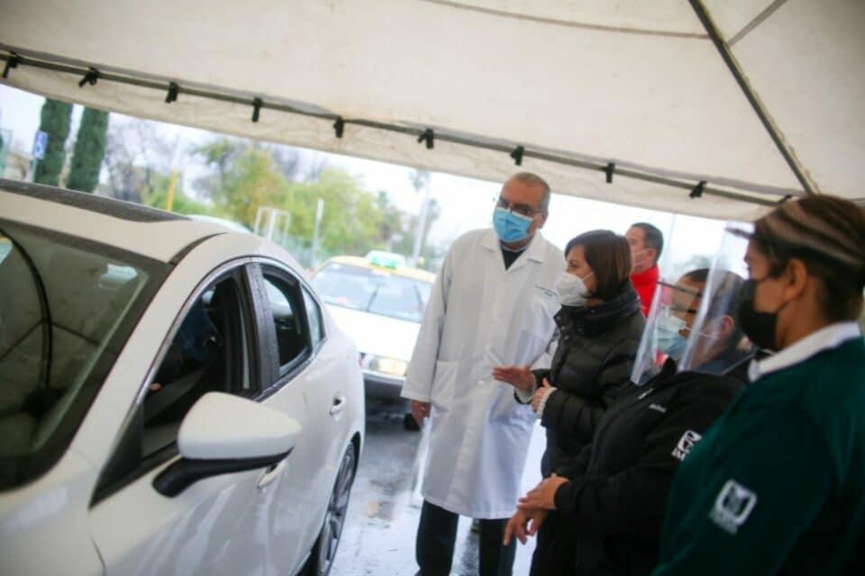 Instalan módulos Drive Thru de vacunación contra influenza en Guadalupe