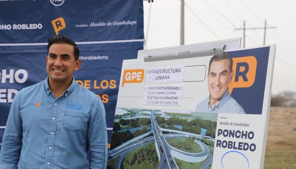 Anuncia Alfonso Robledo Plan de Infraestructura Vial