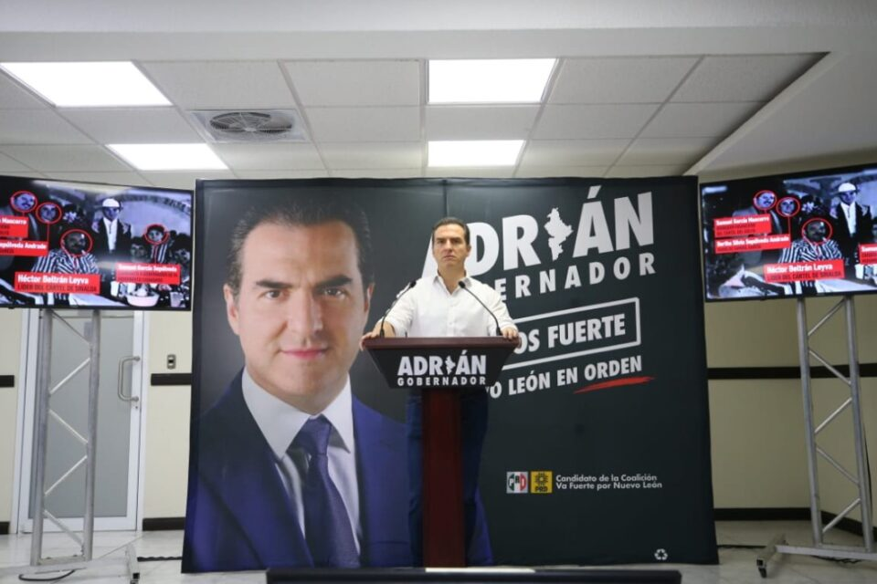 Exhibe Adrián a Samuel por mentir sobre nexo con líder criminal y probable uso de recursos ilícitos