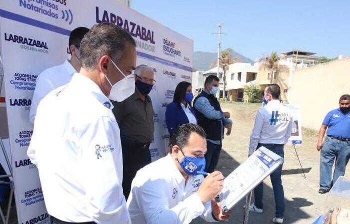 Firma Larrazabal Compromiso en Santiago para crear Centros Integrales de Seguridad Ciudadana