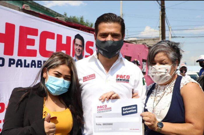 Anuncia Paco Cienfuegos programa de Monedero Escolar y Subsidio a estancias infantiles