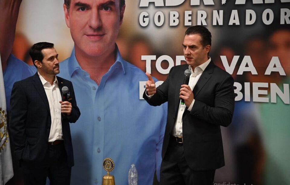 """Basará Adrián estrategia para desarrollo económico en """"oficina de blindaje"""""""