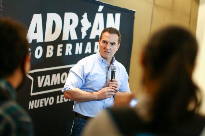 Ofrece Adrián Propuestas realistas para resolver la problemática de Nuevo León