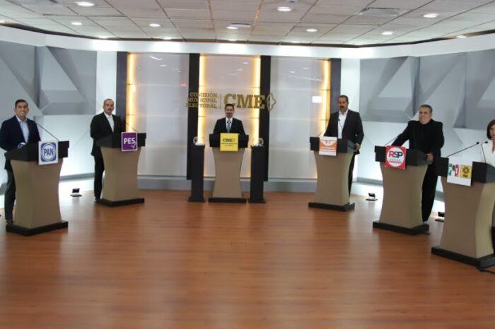 Celebran debate candidaturas al Ayuntamiento de Guadalupe