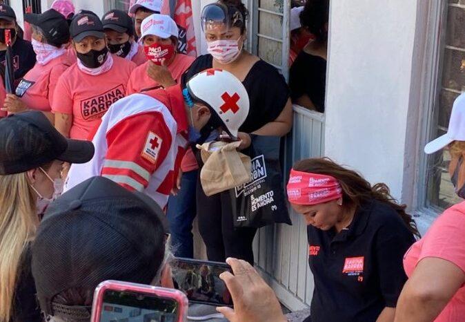 Sufre candidata Karina Barrón dolores de parto durante campaña
