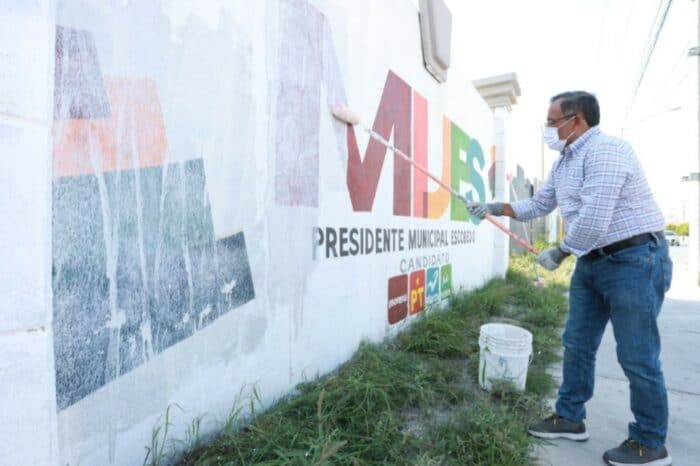 RETIRA MIJES PUBLICIDAD ELECTORAL  EN ESCOBEDO