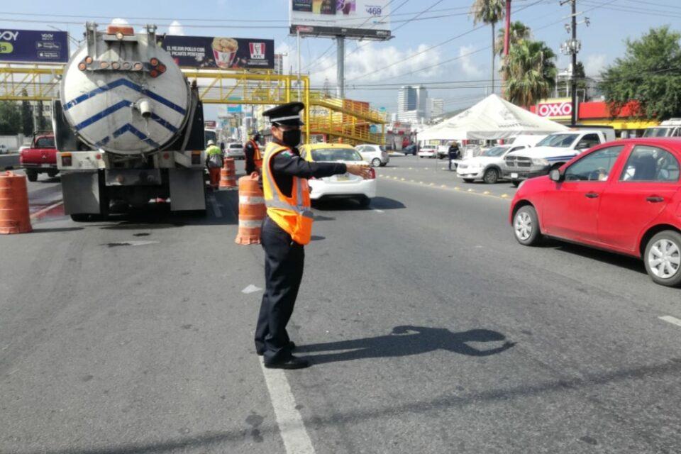 Organiza Monterrey Operativo Vial por trabajos en Gonzalitos y Terranova