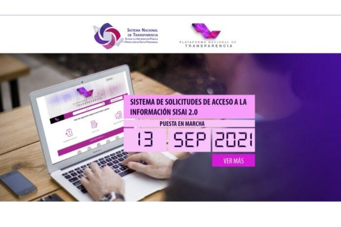 Anuncian INAI y COTAI que 11 y 12 de septiembre el Portal Nacional  de Transparencia estará fuera de servicio
