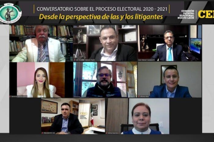 Comparten litigantes experiencias del proceso electoral 2020-2021