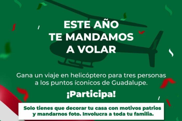 """CONCURSA GUADALUPE VUELO EN HELICÓPTERO A LA """"CASA MÁS PATRIA"""""""
