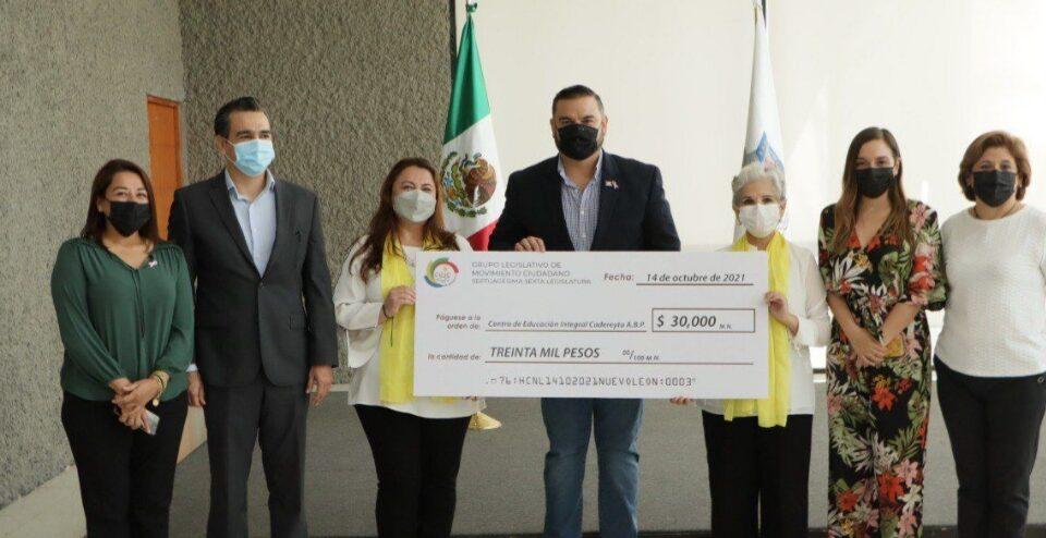 Apoya Bancada Naranja con donativo a Centro de Educación Integral de Cadereyta