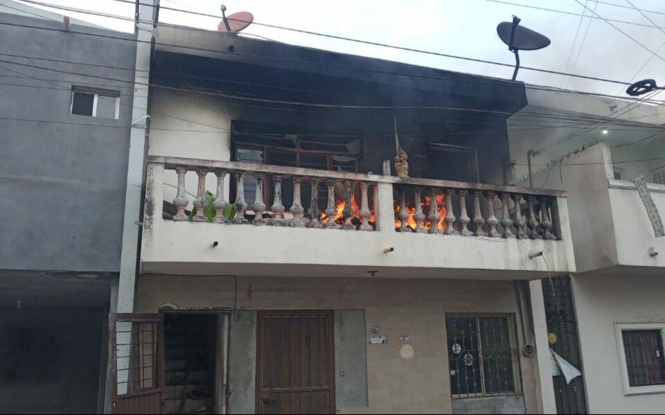 Se registra incendio en vivienda de la Colonia Independencia