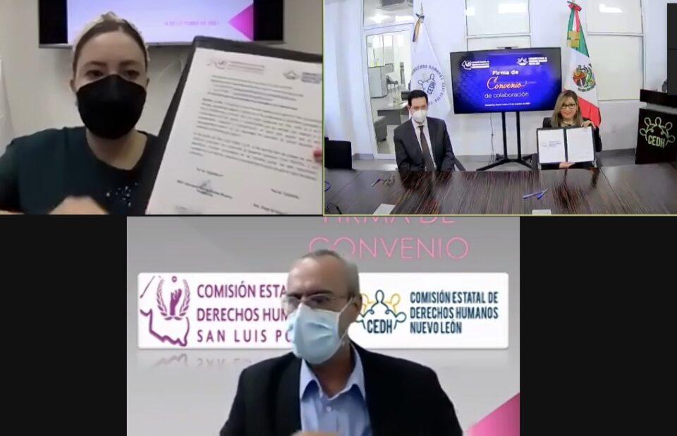 FIRMAN ACUERDO DE COLABORACIÓN COMISIONES DE NUEVO LEÓN Y SAN LUIS POTOSÍ