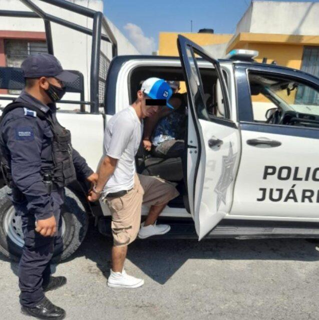 Detienen a 3 con droga en la colonia Paseo Andaluz, en Juárez, N.L